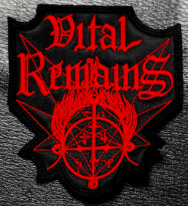 "Vital Remains - Red Logo 3x4"" Embroidered Patch"