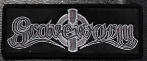 "Graveworm - Grey Logo 5x2"" Embroidered Patch"