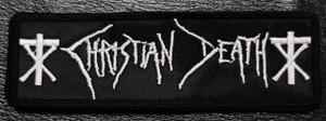 "Christian Death - Logo 5x1"" Embroidered Patch"