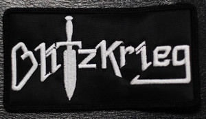 "Blitzkrieg - Logo 4.5x2.5"" Embroidered Patch"
