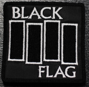 "Black Flag - Flag Logo 3x3"" Embroidered Patch"