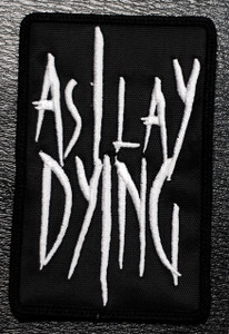 "As I Lay Dying - Logo 2.5x4"" Embroidered Patch"