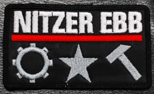 "Nitzer Ebb - Body Works 4x2"" Embroidered Patch"