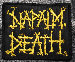 "Napalm Death - Yellow Logo 4x3"" Embroidered Patch"