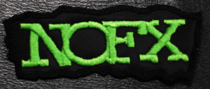 "NoFx - Green Logo 5x1.5"" Embroidered Patch"