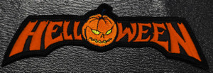 "Helloween - Red Logo 5x1.5"" Embroidered Patch"