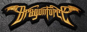 "DragonForce - Gold Logo 5.5x1.5"" Embroidered Patch"