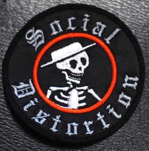 "Social Distortion - Skelly Logo 3x3"" Embroidered"