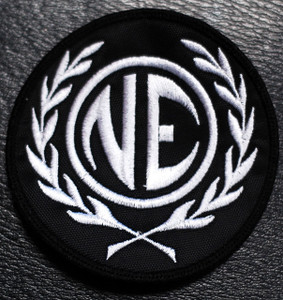 "Nitzer Ebb - NE Logo 3x3"" Embroidered Patch"