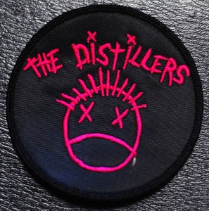 "The Distillers - Pink Logo 3x3"" Embroidered Patch"
