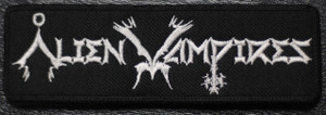 "Alien Vampires - Written Logo 5x1.5"" Embroidered Patch"
