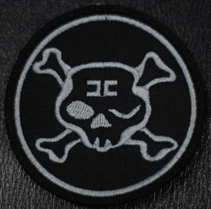 "Combichrist - Round Skull Logo 3x3"" Embroidered Patch"