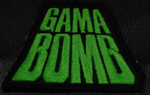 "Gama Bomb - Green Logo 4x3"" Embroidered Patch"