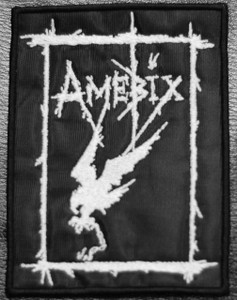 "Amebix - Crow 4x5"" Embroidered Patch Skull"