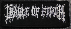 "Cradle of Filth - Logo 4.5x2"" Embroidered Patch"