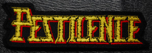 "Pestilence - Shaped Logo 4x1.5"" Embroidered Patch"
