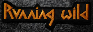 "Running Wild - Gold Logo 5x1.5"" Embroidered Patch"