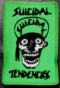 "Suicidal Tendencies - Green Skull 3x5"" Embroidered Patch"