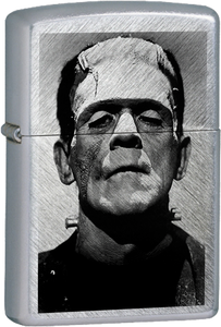 Frankenstein Chrome Lighter Monsters Movies Horror