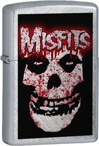 Misfits - Blood Splattered Ghoul Chrome Lighter Post Punk