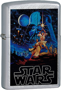 Star Wars - Episode IV: A New Hope Leia & Luke Chrome Lighter Vader Skywalker