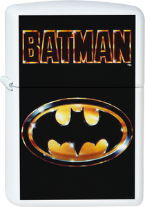 Batman - Logo White Lighter Joker Comics Harley Hero
