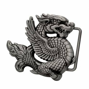 Dragon - Small Metal Belt Buckle