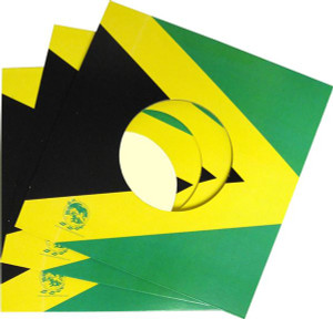 "7"" Record Jamaican flag Jacket package"