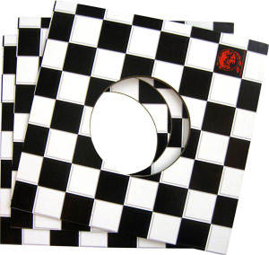 "7"" Record Checkered Ska print Jacket package"