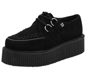 T.U.K. Shoes - V7757 Black Suede Mondo Sole Creepers