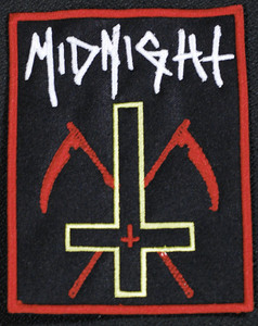 "Midnight - Inverted Cross 4.5x3.5"" Embroidered Patch"