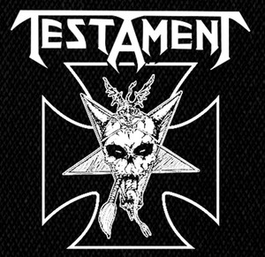 "Testament - Skull 5x5"" Printed Patch"