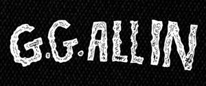 "G.G. Allin - Logo 6X3"" Printed Patch"