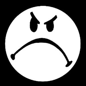 "Grumpy Face - Logo 4x4"" Printed Patch"