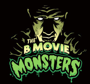 "The B Movie Monsters - Logo 4x4"" Color Patch"