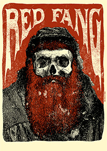 "Red Fang - Bearded Skull 4x5.5"" Color Patch"