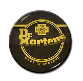 "Dr. Martens Made in England 1"" Pin"