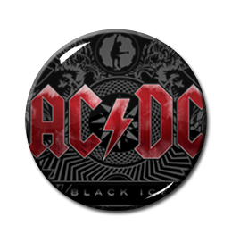"AC/DC - Black Ice 1"" Pin"