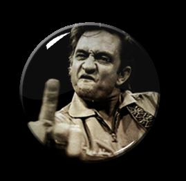 """Johnny Cash - Finger up 1"""" Pin"""