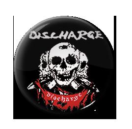 "Discharge - Three Skulls 1"" Pin"