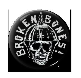 """Broken Bones - Skull Warrior 1"""" Pin"""