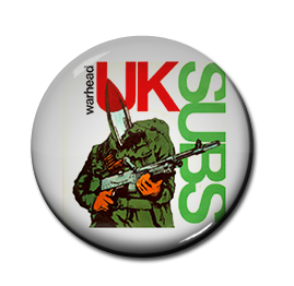 "UK Subs - Warhead 1"" Pin"