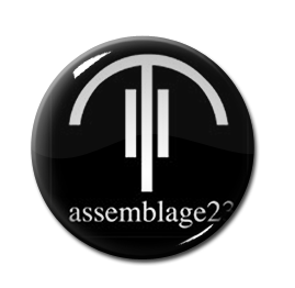 """Assemblage 23 - The Vinyl Sessions 1"""" Pin"""