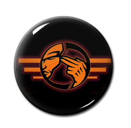 "Agonoize - Orange Logo 1"" Pin"