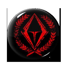 """Grendel - Red Logo 1"""" Pin"""