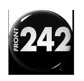 """Front 242 - Black Logo 1"""" Pin"""