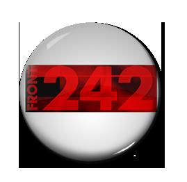"Front 242 - White Logo 1"" Pin"