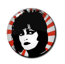 "Siouxsie and the Banshees - Siouxsie Face 1"" Pin"