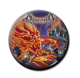 "Aggression - Moshpirit 1"" Pin"
