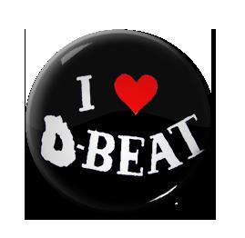 "I Love D-Beat 1"" Pin"